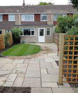 Patio, paving and garden in Grange-over-Sands